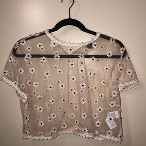 Forever 21 sheer party top